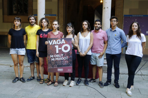 Members of Universities for the Republic after press conference calling for student strike (ACN)
