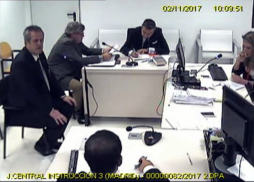 Joquim Forn testifying before National Court in Madrid (Pol Solà)