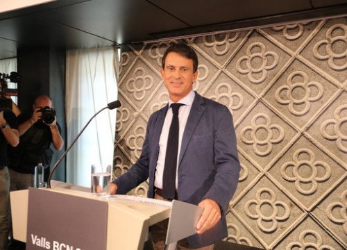 Manuel Valls during a press conference on September 26, 2018 (by Ismael Peracaula)