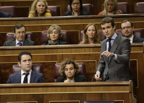 The PP leader, Pablo Casado, in the Spanish Congress (by Spanish Congress)