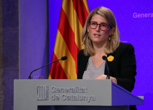 The Catalan government spokeswoman Elsa Artadi after the cabinet meeting on October 16, 2018 (by Andrea Zamorano)