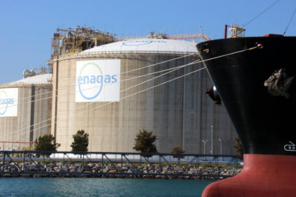 Enagas plant in the Port of Barcelona, October 23, 2018