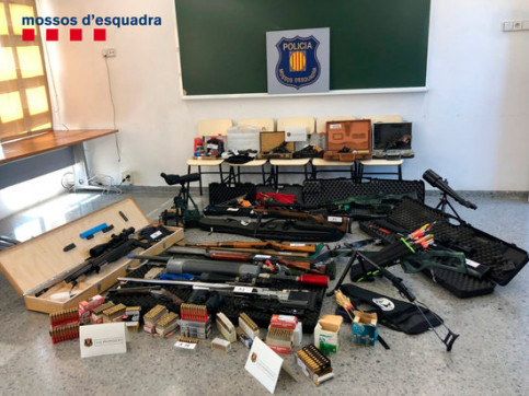 Firearms seized by the Catalan police (by Mossos d'Esquadra)
