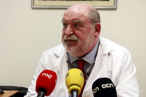 Doctor Antoni Bulbena during an interview in November 2018 (by Laura Fíguls)