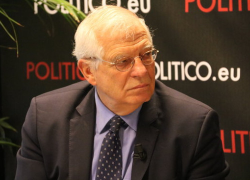 The minister of Foreign Affairs of Spain, Josep Borrell, in an interview with 'Politico' (by Blanca Blay, ACN)