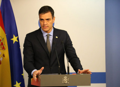 The Spanish president, Pedro Sánchez, on November 25 in Brussels (by Natàlia Segura)