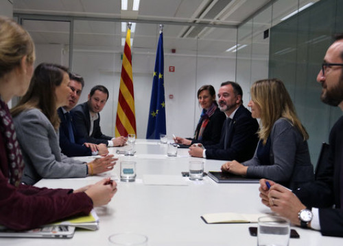 The Catalan foreign minister, Alfred Bosch, in a meeting with delegates abroad in Brussels on November 28, 2018 (by Blanca Blay)