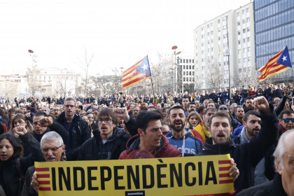 Independence march in Girona in December 2018. (Photo: Lourdes Casademont)