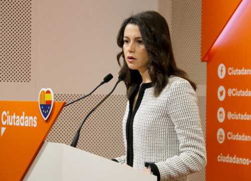 The leader of Ciutadans, Inés Arrimadas, during a press conference on December 22, 2018 (by Jordi Pujolar)