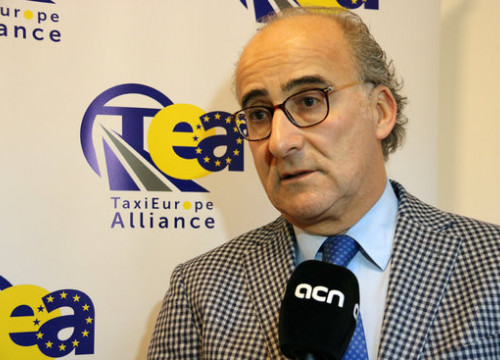 Emiliano Alonso, Taxi Europe Alliance representative (by Natàlia Segura)