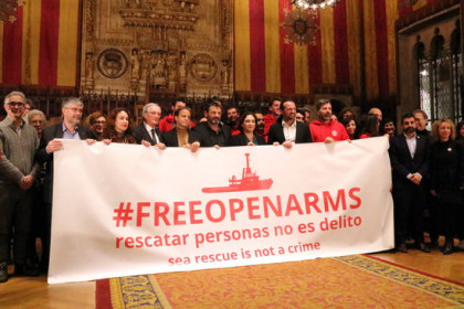 Catalan NGO Proactiva Open Arms awarded Barcelona's Gold Medal (by Nazaret Romero)