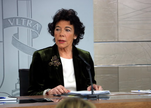 The Spanish government spokeswoman, Isabel Celáa, on January 25, 2019 (by Tània Tàpia)