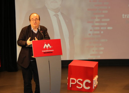 The leader of the Catalan Socialists, Miquel Iceta, in Manresa on January 30, 2019 (by Gemma Aleman)