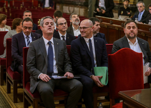 Pro-independence leaders on trial at Spain's Supreme Court (by EFE)