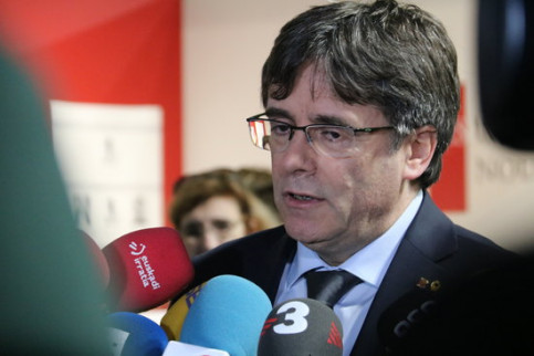 Exiled former Catalan president Carles Puigdemont