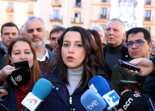 Opposition head Inés Arrimadas (by Gerard Vilà)