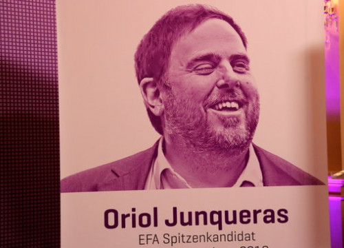 Oriol Junqueras, currently in prison while the Catalan Trial is ongoing, chosen as EFA candidate to preside over the European Commission in upcoming election