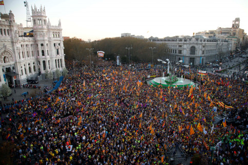 Thousands rally in Madrid against independence trial on 16 March 2019 (by Javier Barbancho)