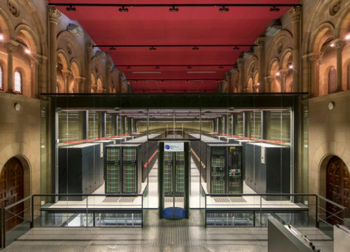 The Torre Girona Chapel where the Mare Nostrum 4 Supercomputer sits. (Photo: Barcelona Supercomputing Center)