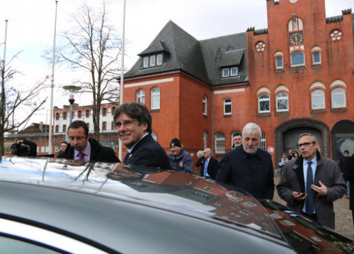Image of the former Catalan president, Carles Puigdemont, in Neumünster, Germany, in March 2019 (by Natàlia Segura)