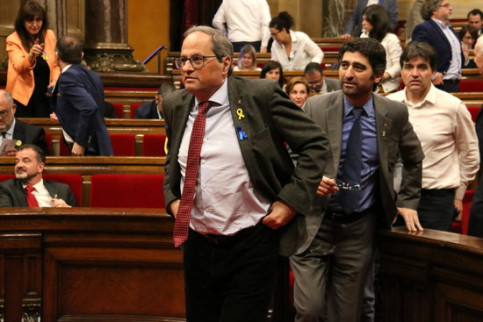 Catalan president Quim Torra in parliament (by ACN)