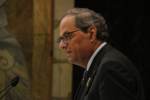 Quim Torra addresses the new indictments over referendum logistics