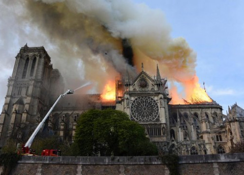 Notre-Dame cathedral on fire on April 15, 2019 (by French government)