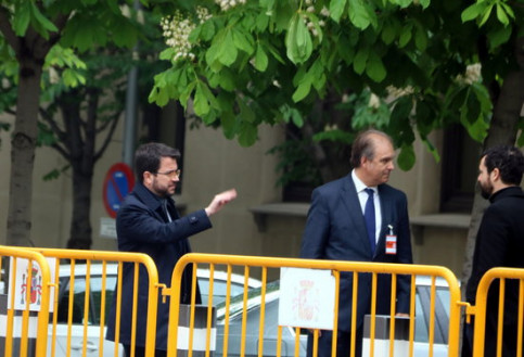 Catalan vice president Pere Aragonès arrives in Spain's Supreme Court on Tuesday (by ACN)