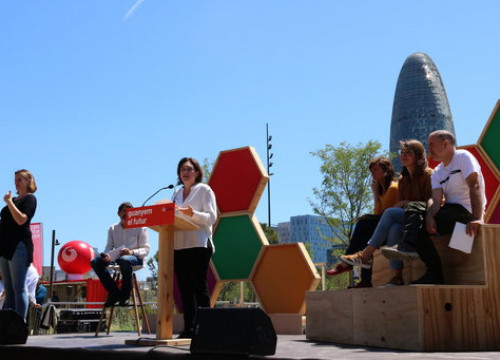 Ada Colau at an election event in Parc de les Glòries in Barcelona (Photo: Nazaret Romero)