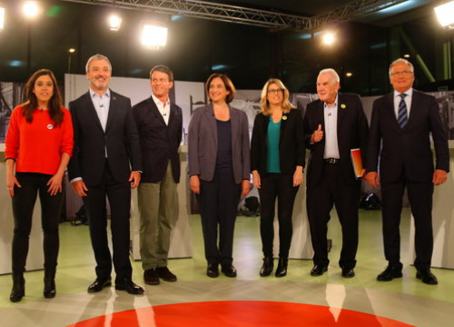 Image of the main candidates for Barcelona mayor running in the May 26 local election (by Nazaret Romero)