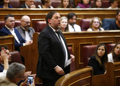 Junqueras was elected as an MEP, but blocked from taking his seat (by Javier Barbancho)