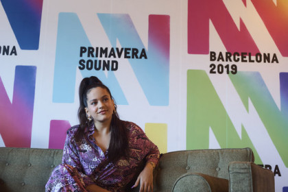 Rosalía at a press conference during Primavera Sound 2019 (by Paco Amate / Primavera Sound)
