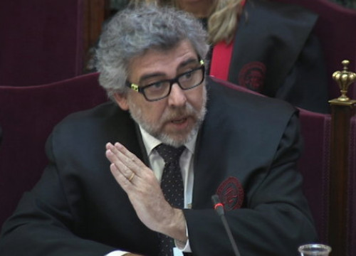 One of the defense lawyers in the Catalan trial, Jordi Pina, on June 11, 2019
