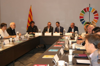 Meeting of the departments of the Catalan government to propose environmental measures in line with the UN's 2030 Agenda plan. (Photo: Aina Martí)