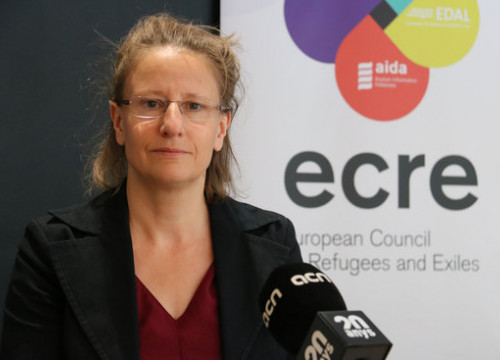 Secretary General of the European Refugee and Exiled Council, Catherine Woollard. (Photo: Blanca Blay)