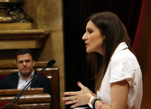 Lorena Roldán, MP for Ciutadans, in Catalan parliament on July 24, 2019 (by Laura Fíguls)