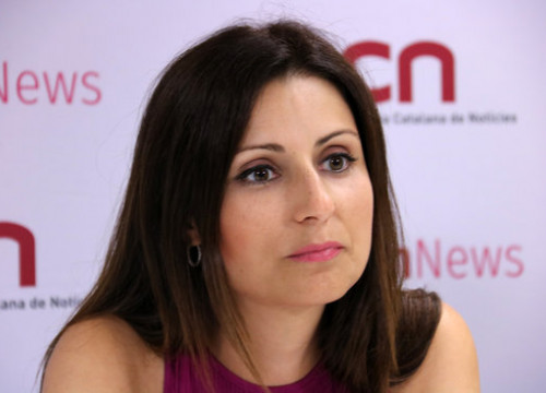 Ciutadans' leader in Catalonia, Lorena Roldán, during an interview with ACN on August 28, 2019 (by Bernat Vilaró)