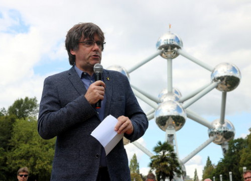 Image of Carles Puigdemont on September 8, 2019 in Belgium (by Nazaret Romero)