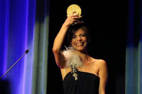 Actress Maribel Verdú receives the Time Machine Award at the 2019 Sitges Film Festival (by Pere Francesch)