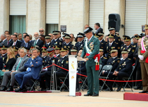 Pedro Garrido, head of the Guardia Civil Spanish police force in Catalonia, gives a speech during an official act (by Àlex Recolons)