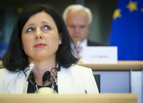 Vera Jourová, Commissioner for Justice at the EC, on November 25 2014 (photo courtesy of the European Parliament)