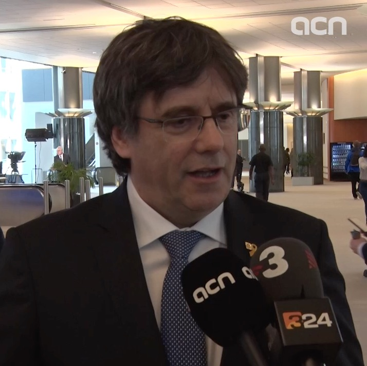 Former Catalan president Carles Puigdemont speaks of yellow ribbon controversy