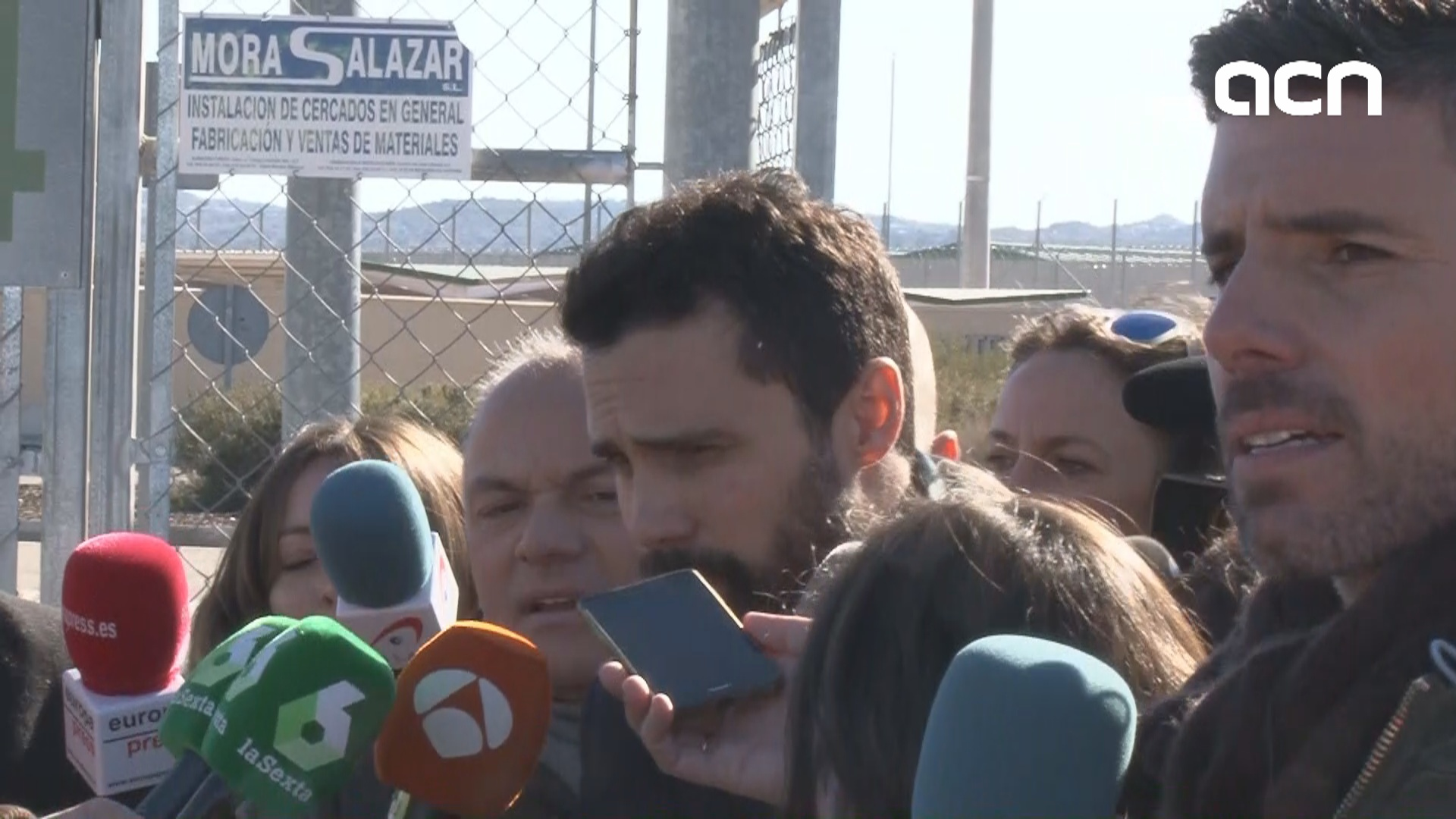 Torrent visits imprisoned pro-independence leaders in the Madrid region