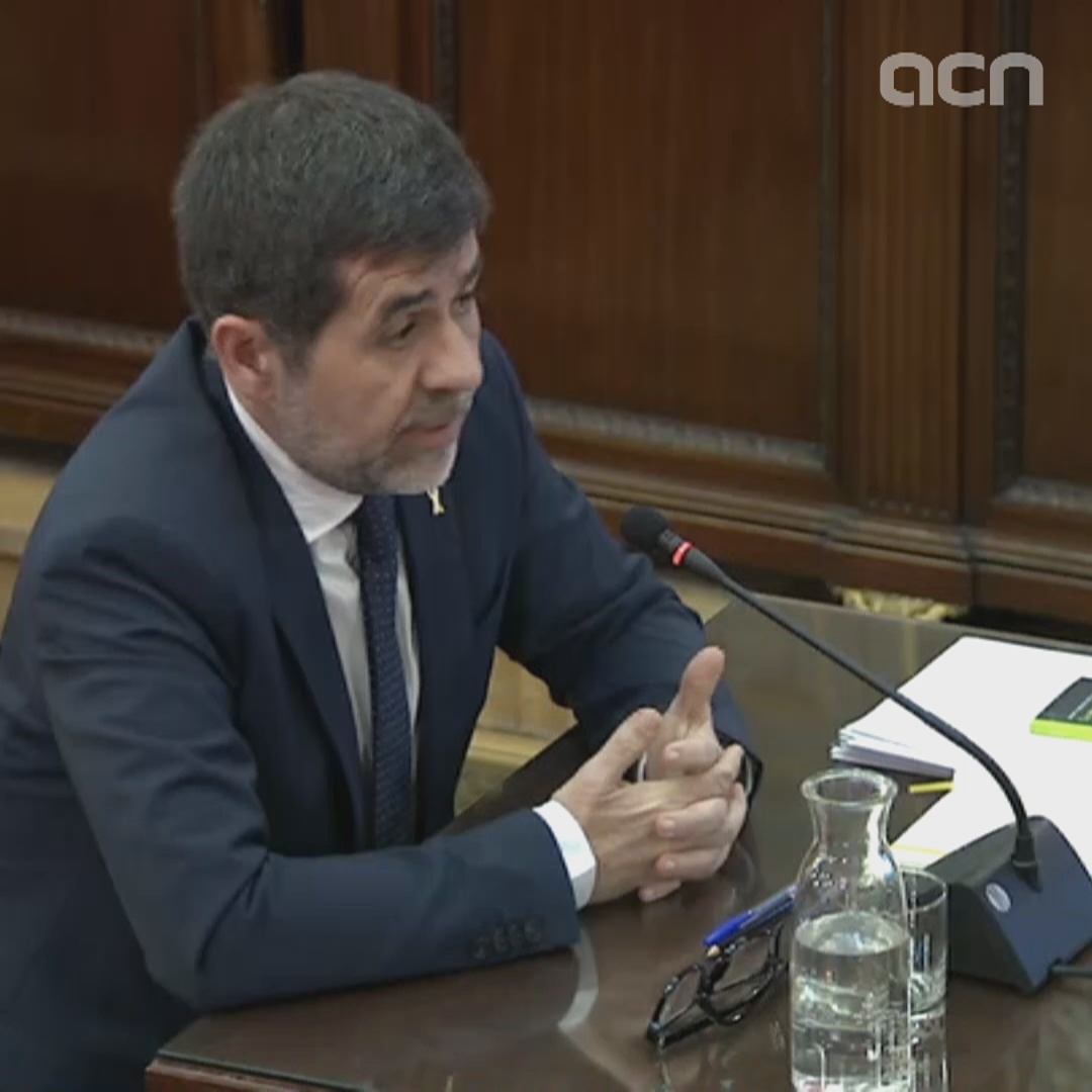 Jordi Sànchez alludes to texts that 'compromised the dignity and the good reputation' of judge