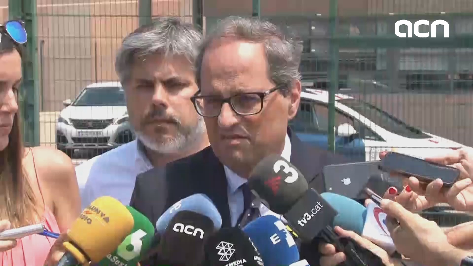 Torra makes a call for the freedom of imprisoned officials