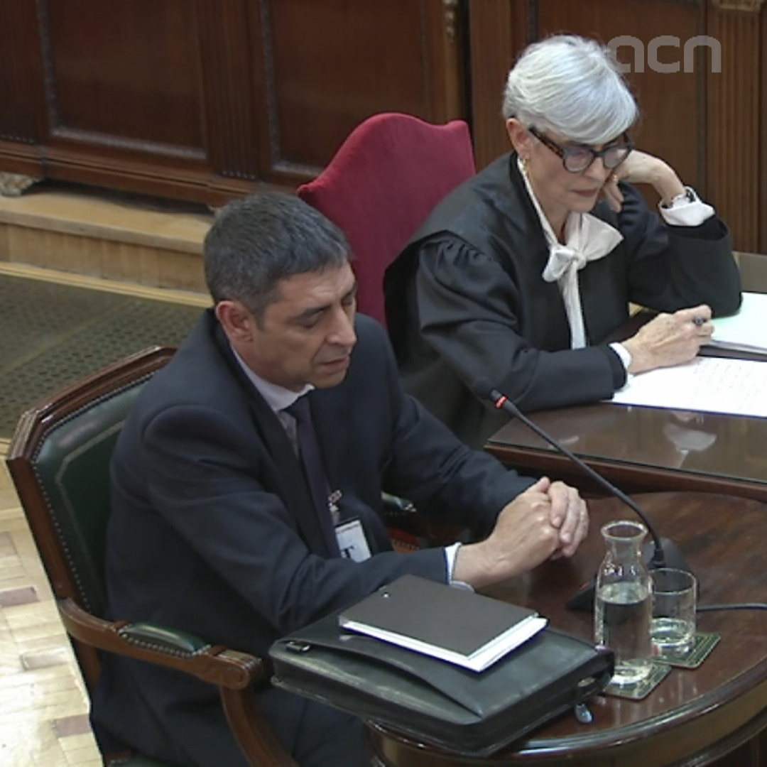 "Trapero says the Catalan police considered their plans for Sept 20  ""safe"""