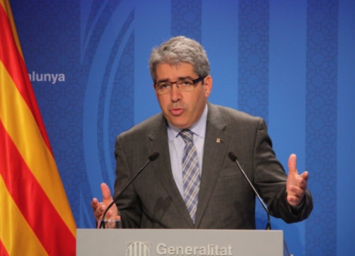 The Catalan Government's Spokesperson and Minister for the Presidency, Francesc Homs (by R. Garrido)