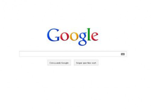 Google's frontpage in Catalan (by Google / ACN)