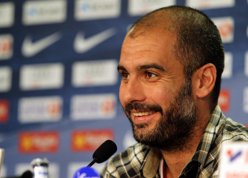 Pep Guardiola during today's press conference (by FC Barcelona)