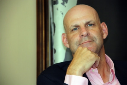 Harlan Coben, yesterday afternoon in Barcelona